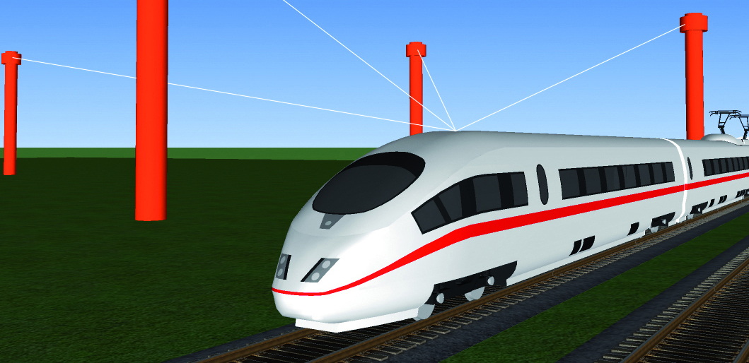 Computer simulation of the ICE train