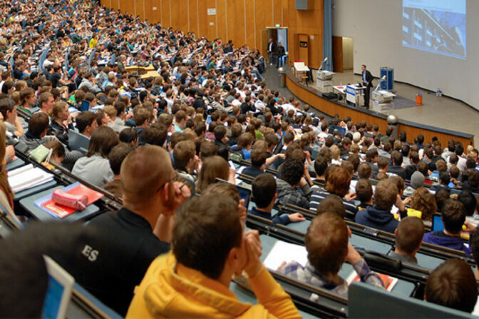 Auditorium with students