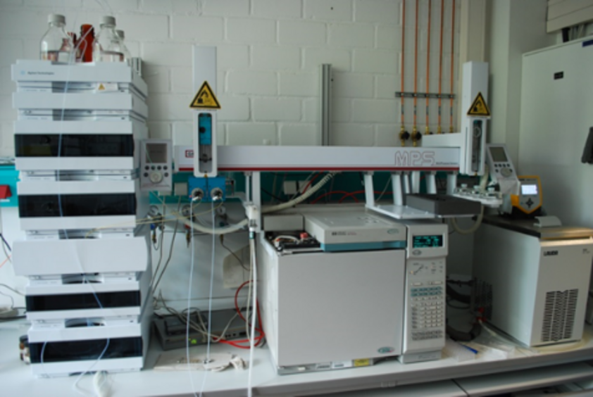 Experimental set-up of the automated gas chromatograph